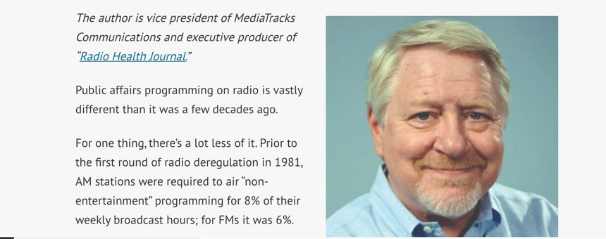 Radio Public Affairs: How Far We've Come