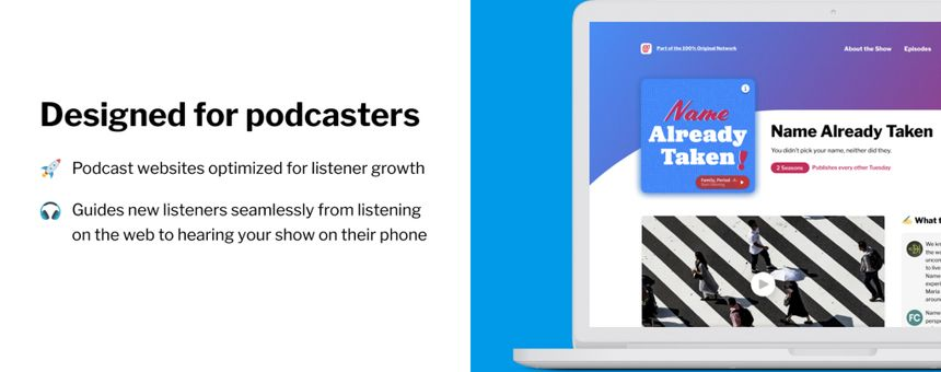 Increase your podcast's discoverability with a Podsite™