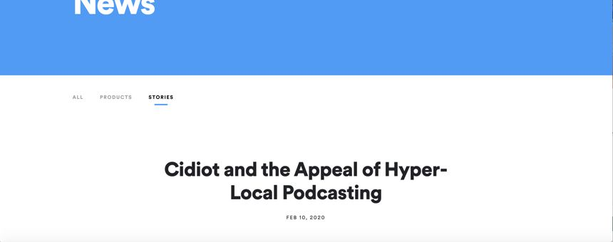 The Appeal of Hyper-local Podcasting