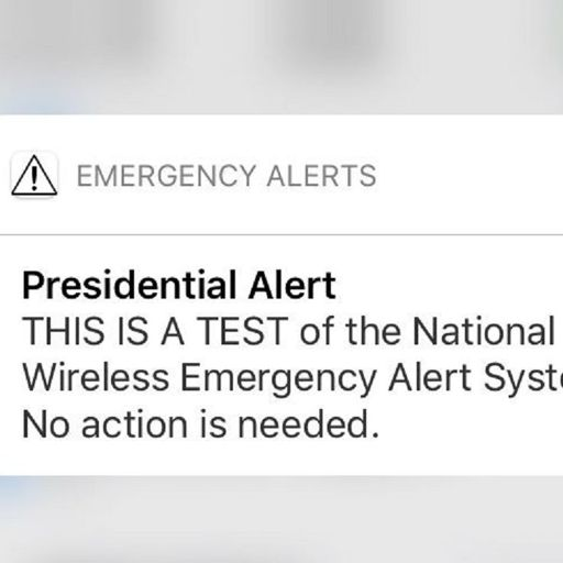 The Presidential Alert System Goes LIVE