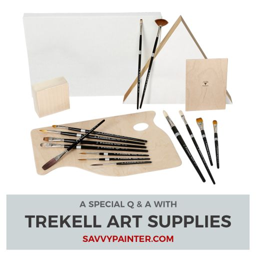Paint Brush Care, Techniques, and QAs with Trekell Art Supplies from