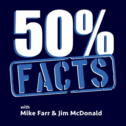 Cover art for podcast 50% Facts