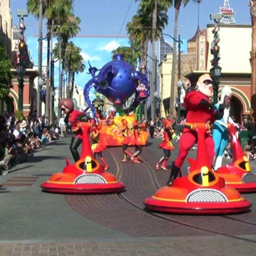 The Pixar Play Parade at California Adventure from