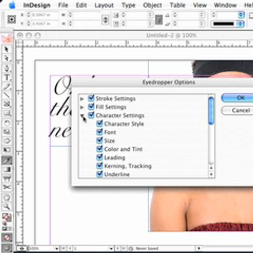 Not your ordinary Eyedropper Tool - InDesign CS2 from Adobe