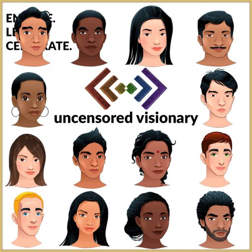 Cover art for podcast Uncensored Visionary: A LGBTQ Podcast