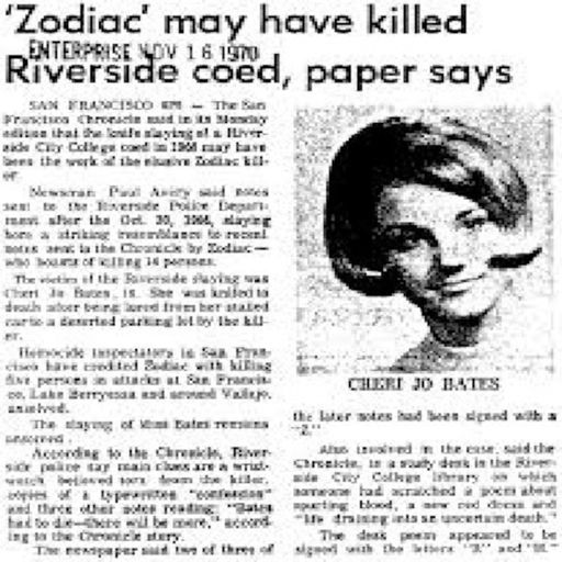 Cheri Jo Bates and the Zodiac Killer from House of Mystery