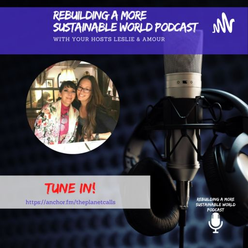 Cover art for podcast Rebuilding a More Sustainable World Podcast with Leslie & Amour