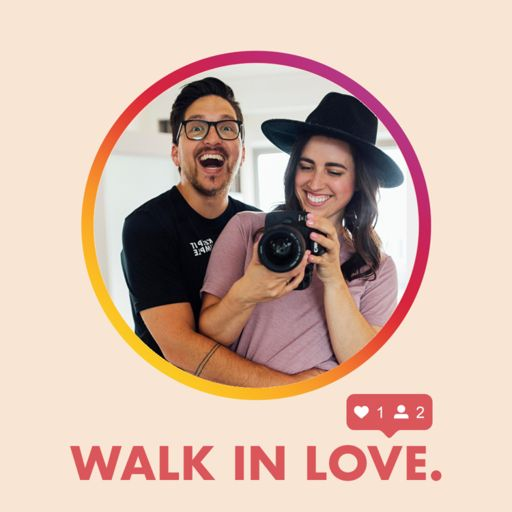 Cover art for podcast walk in love. with Brooke & T.J. Mousetis
