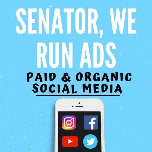 Cover art for podcast Senator, We Run Ads
