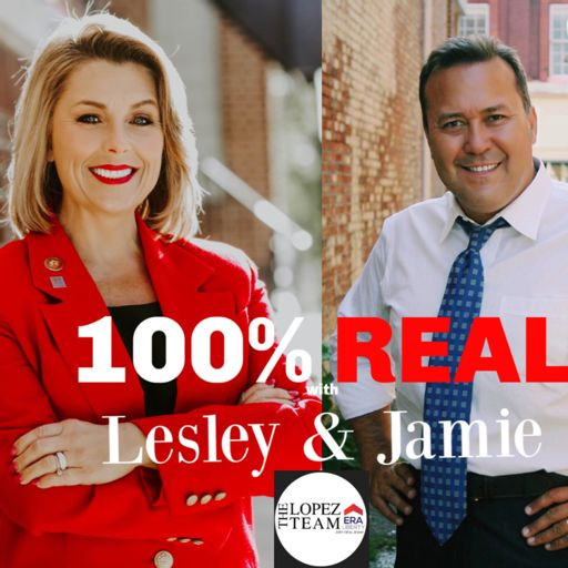 Cover art for podcast 100% Real with Lesley and Jamie