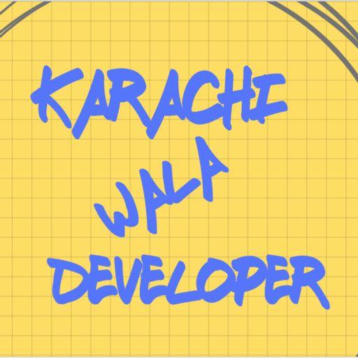 Cover art for podcast Karachi Wala Developer