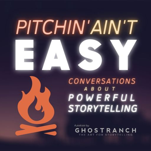 Cover art for podcast Pitchin' Ain't Easy: Conversations about powerful Storytelling, Marketing, & Communication Design