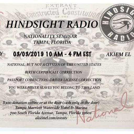 THE JONAH BEY SHOW !!! from HINDSIGHT RADIO on RadioPublic