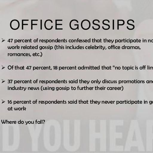 Office mein colleagues ki personal life pe gossip karne