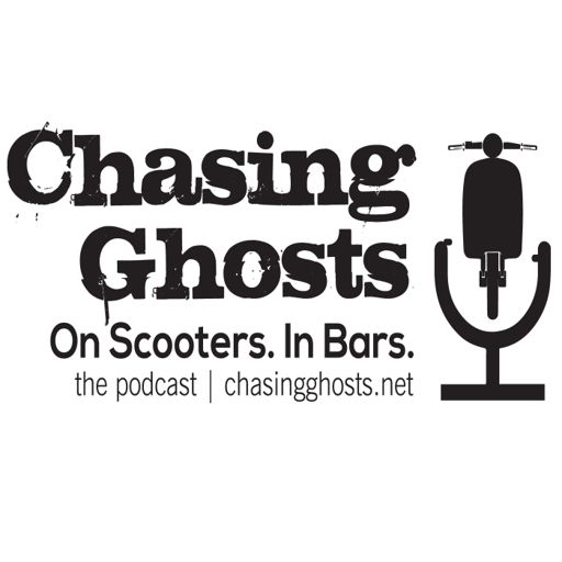 Cover art for podcast Chasing Ghosts. On Scooters. In Bars.