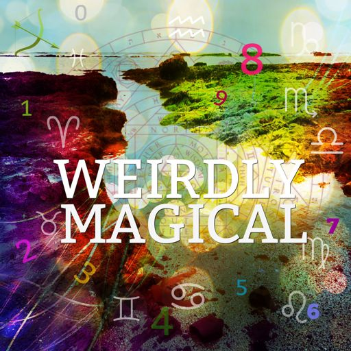 Cover art for podcast Weirdly Magical with Jen and Lou - Astrology - Numerology - Weird Magic - Akashic Records