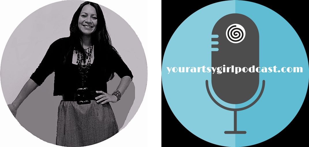 Cristina Querrer, host of yourartsygirl podcast